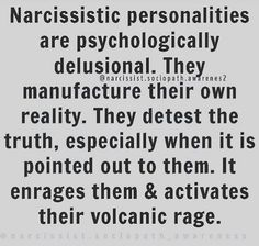 They are delusional Narcissistic People, Narcissistic Abuse Recovery, Narcissistic Behavior, Narcissistic Sociopath, Narcissistic Personality Disorder, Ptsd Recovery, Emotional Abuse, Emotional Intelligence, Relationship Quotes