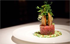 Alfred Portale's yellowfin tuna tartare at Gotham Bar and Grill in Greenwich Village. I love their food!