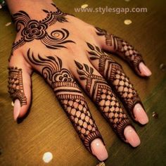Simple & Easy Eid Mehndi Designs 2016-2017 Latest Collection | StylesGap.com