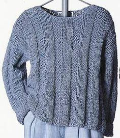 Gianna Wide-Rib Pullover knitting pattern; Adrienne Vittadini Spring 1994 vol 2 knitting collection