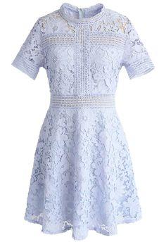 Floral Land Crochet Dress in Lavender - New Arrivals - Retro, Indie and Unique Fashion