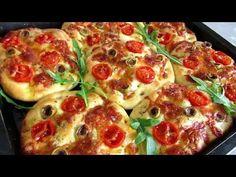 يااااسلام على فطائر فوكاتشا ! تحمر لوجه لم تتذوق مثلها من قبل - YouTube Pogaca Recipe, Pepperoni, Vegetable Pizza, Bread, Vegetables, Cooking, Tips, Recipes, Food
