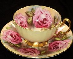 Rossanne cups and saucers | Teacup Roses