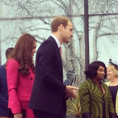 Duke and duchess of cambridge meet Baroness Doreen Lawrence. Last engagements before Royal birth