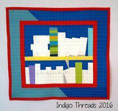 2016 MQG Challenge quilt by Indigo Threads
