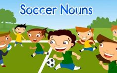 Free soccer game for learning about nouns