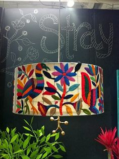 otomi wrapped drum shade