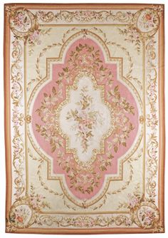 A European Carpet Aubusson Early 20th Century
