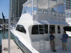 Checking out a Post at the Miami Boat Show...we loved it, our client looking for more of a go-fast boat!