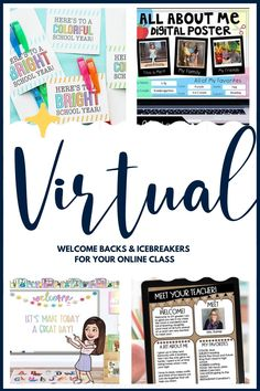 An easy substitute to first-day classroom orientation and in-person icebreakers that can help set a light tone and bring some normalcy to the uncertain semester that lies ahead.   #virtuallearning #backtoschool2020 First Week Of School Ideas, Icebreakers, Teaching Tips, Classroom Management, Teacher Resources, School Supplies, Elementary Schools, Back To School, Activities
