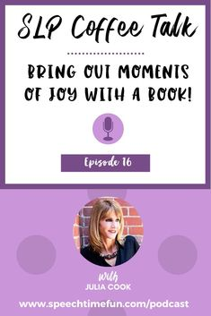 Love using books in speech therapy? Learn about famous children's book author Julia Cook and her journey to where she is today!