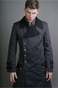 ISSC Officer Coat | Grey and Black - Gentlemen