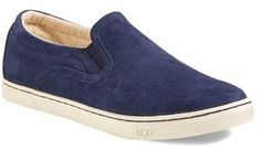$89, Navy Suede Slip-on Sneakers: UGG Australia Fierce Water Resistant Suede Slip On Sneaker. Sold by Nordstrom.