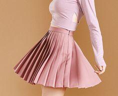 chuu - A-Line Mini Pleat Skirt Pleated Mini Skirt, Skater Skirt, Mini Skirts, High Waisted Skirt, Autumn, My Style, Womens Fashion, Clothes, Beauty