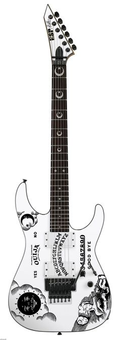 """ESP M CUSTOM OUIJA DEATH BOARD KIRK HAMMETT SIGNATURE ELECTRIC GUITAR  """"The World's No:1 Online Heavy Metal T-Shirt Store"""". Check it out our Metalhead Clothing and Apparel Store, Satanic Fashion and Black Metal T-Shirt Stores; www.HeavyMetalTshirts.net"""