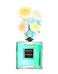 Chanel Perfume Bottle Coco Chanel print by PaperStormPrints
