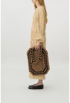 wood beads bag