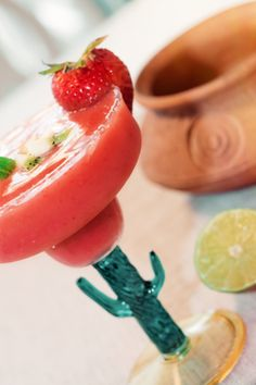 """CLICK PIC  2x for Recipe....  ..""""Low Carb"""" Frozen Strawberry Margaritas... ...Recipe by George Stella... ...For tons more Low Carb recipes visit us at """"Low Carbing Among Friends"""" on Facebook"""