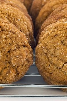Soft, Spicy, Heavenly Ginger Cookies - Cook'n is Fun - Food Recipes, Dessert, & Dinner Ideas Köstliche Desserts, Delicious Desserts, Dessert Recipes, Recipes Dinner, Yummy Cookies, Cupcake Cookies, Cupcakes, Soft Ginger Cookies, Cookies Soft