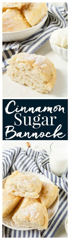 This Cinnamon Sugar Bannock is a sweetened up version of the classic bread recipe! It's ready in just 15 minutes and tastes like a cross between buttermilk biscuits and doughboys! It's great for breakfast, brunch, or as a dinner side!