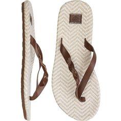ROXY Kalani sandal ($29) ❤ liked on Polyvore