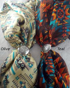 http://knot-a-tail.com/node/1212  Love these New Bold Wild Ray Cowboy Silk scarf by Knot-a-Tail.com