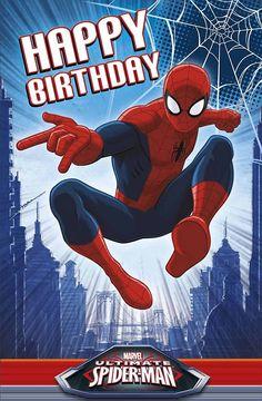 Birthday Greetings For Men, Birthday Wishes For Friend, Happy Birthday Wishes Quotes, Happy Birthday Greeting Card, Happy Birthday Spiderman, Happy Birthday Disney, Hero Spiderman, Happy Bird Day, Happy Birthday Wallpaper