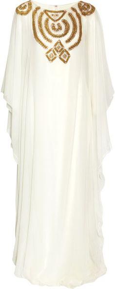 Embellished Silk-chiffon Gown - Lyst