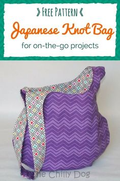 Free Sewing Pattern and Tutorial: How to make a reversible Japanese knot bag Easy Sewing Projects, Sewing Projects For Beginners, Sewing Hacks, Sewing Tutorials, Sewing Crafts, Sewing Tips, Hobo Bag Tutorials, Sewing Basics, Sewing Ideas