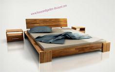 Lits en bois massif Meuble design pas cher
