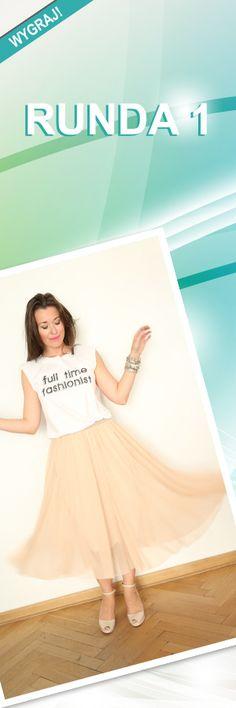 Nagroda w rundzie 1: Zestaw Spódnica + Tshirt; Projektant: Fashion My Love; Wartość: 265 zł; Poczucie piękna: bezcenne.  Powyższy materiał nie stanowi oferty handlowej