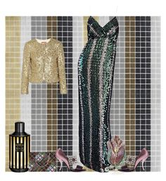 """Sequined"" by marina-pretto ❤ liked on Polyvore featuring art"