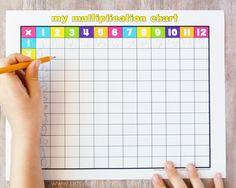 Free Printable Multiplication Chart at artsyfartsymama.com