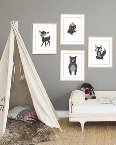 Boho Woodland collection Children Inspire Design
