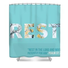 Psalm 37 7 Shower Curtain For Sale By Rest In Jesus Today