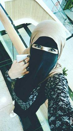 Niqab Eyes, Hijab Niqab, Mode Hijab, Arab Girls Hijab, Muslim Girls, Muslim Women, Beautiful Arab Women, Beautiful Hijab, Hijabi Girl