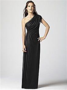 Dessy Collection Style 2858 #black #bridesmaid #dress
