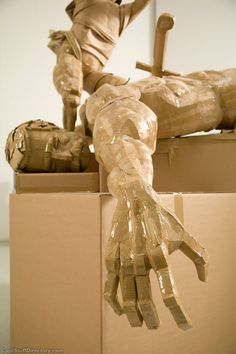 Incredible Cardboard Sculptures By Dylan Shields ~ Cool Stuff Directory