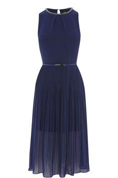 Embellished Chiffon Midi Dress | Blue | Oasis Stores