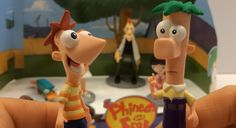 Phineas and Ferb Figurine Playset from the Disney Store Channel XD HD