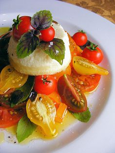 Heirloom Tomatoes, Goat's Cheese Sformatino