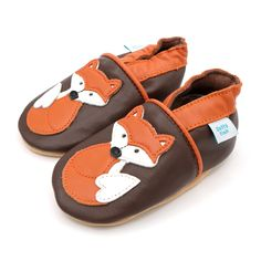 4c3d2b0e7b9f3 Brown with Orange Fox – Side – Dotty Fish Soft Leather Baby and Toddler  Shoes Freddie