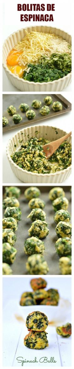 Spinach Balls Best Spinach appetizers Great Spinach clean eating recipes for summer Healthy Thanksgiving Appetizers Healthy Christmas Appetizers Spinach Appetizers, Spinach Recipes, Healthy Appetizers, Appetizers For Party, Appetizer Recipes, Healthy Snacks, Vegetarian Recipes, Healthy Eating, Healthy Recipes