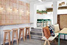 interior design for Vino Veritas, a restaurant located in Oslo, Norway.