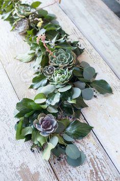 Succulent garland/centrepiece .