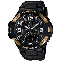Men's Wrist Watches - Casio Mens GA10009G GShock Gravitymaster BlackGold Watch * Read more reviews of the product by visiting the link on the image. (This is an Amazon affiliate link)