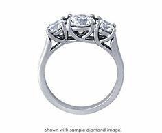 Three Stone Trellis Diamond Ring from Blue Nile