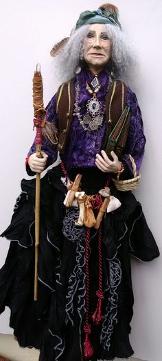 "ARADIA the ""HIPPIE WITCH""  OOAK Character Doll by HELGA PIKAL ETSY  :  Helgasartdolls Aradia, Art Dolls, Witches, Etsy, Character, Dresses, Fashion, Vestidos, Moda"