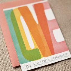 """""""love"""" wood type invitations #wedding #invitation"""