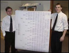 One Page Printed Genealogy!
